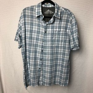 Blue and White Plaid T